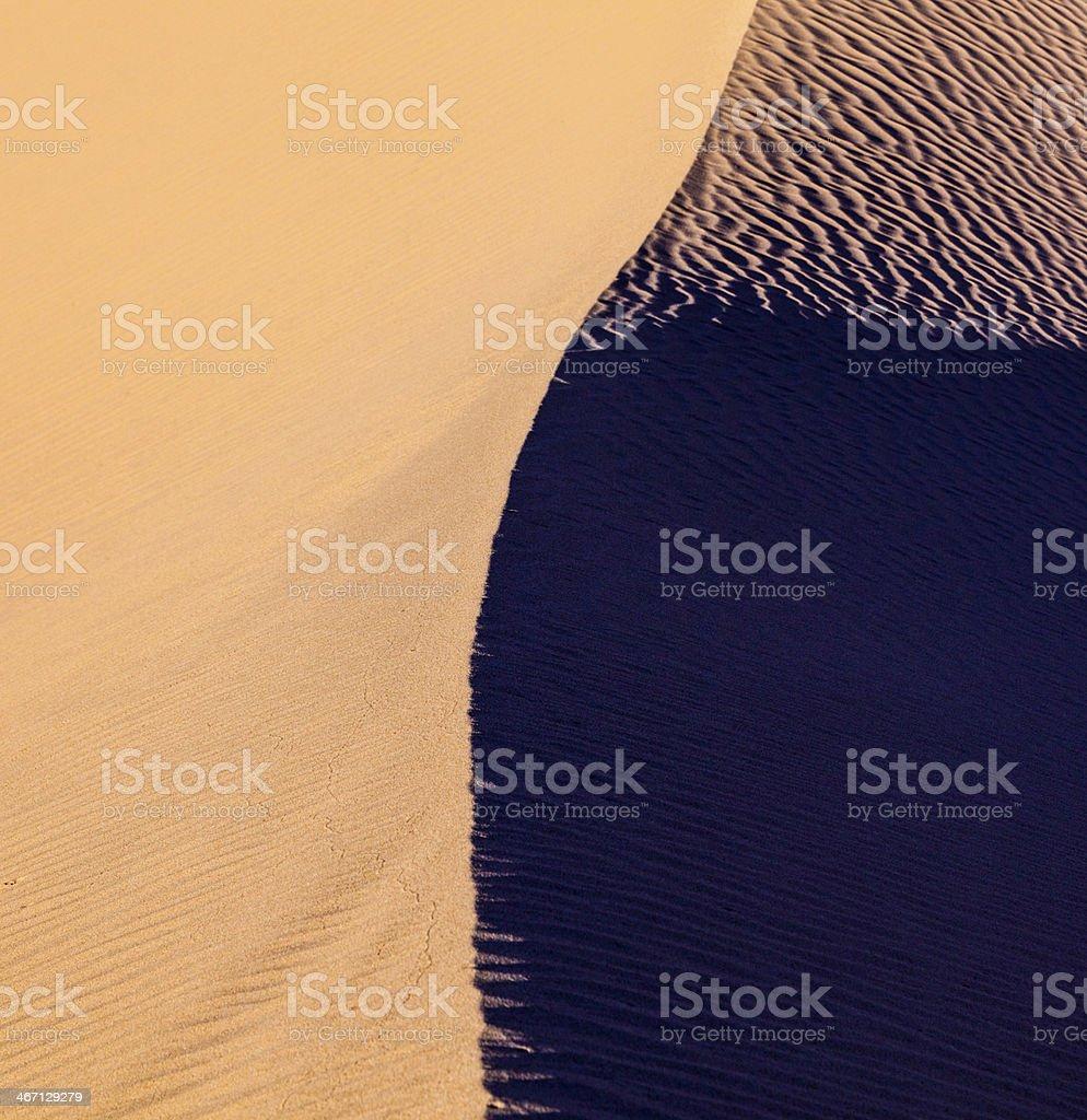 sand dune in the desert royalty-free stock photo