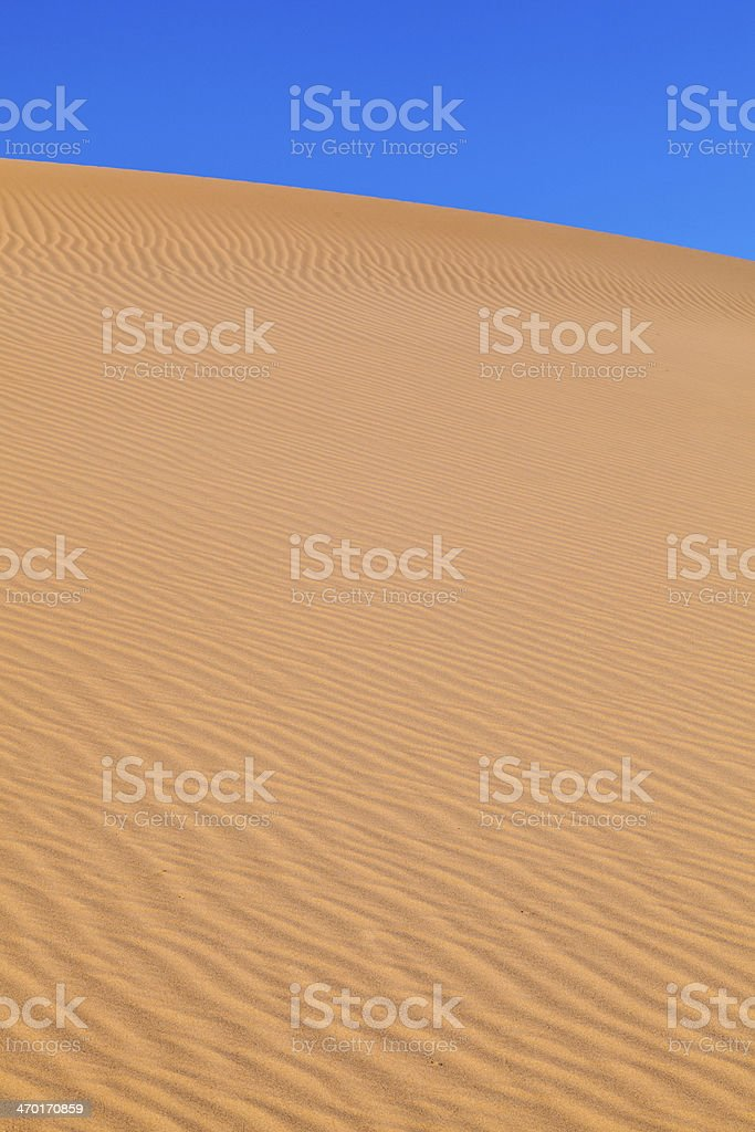 sand dune  in the desert royalty-free stock photo