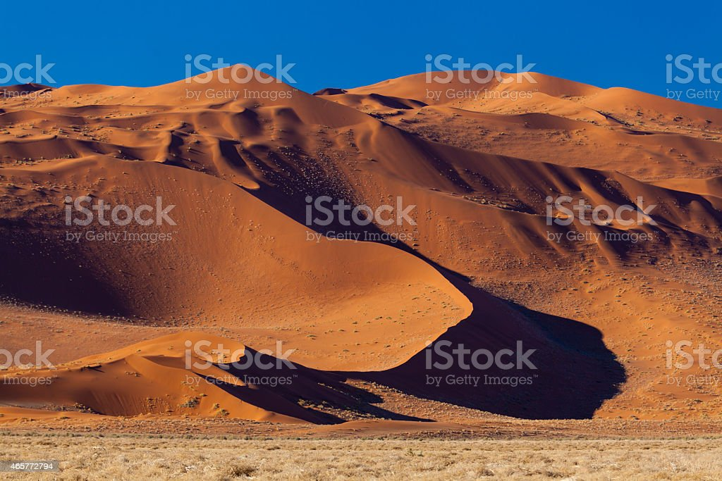 sand dune in the namib desert stock photo