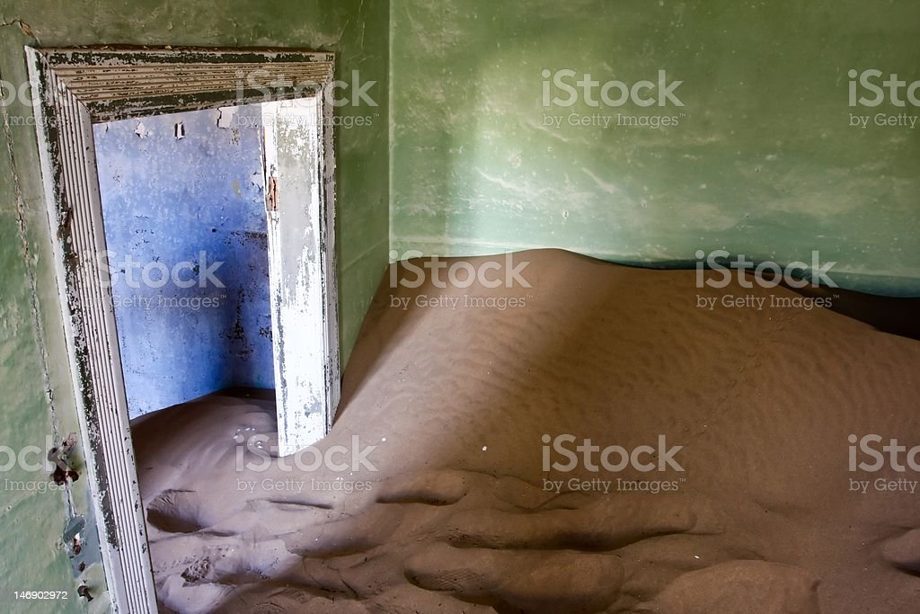 Sand dune in your living room stock photo