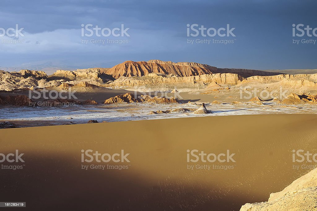 Valle De La Luna Sand Dune royalty-free stock photo