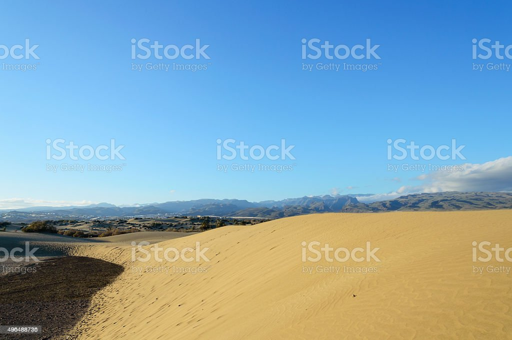 Sand Dune of Maspalomas, Gran Canaria stock photo