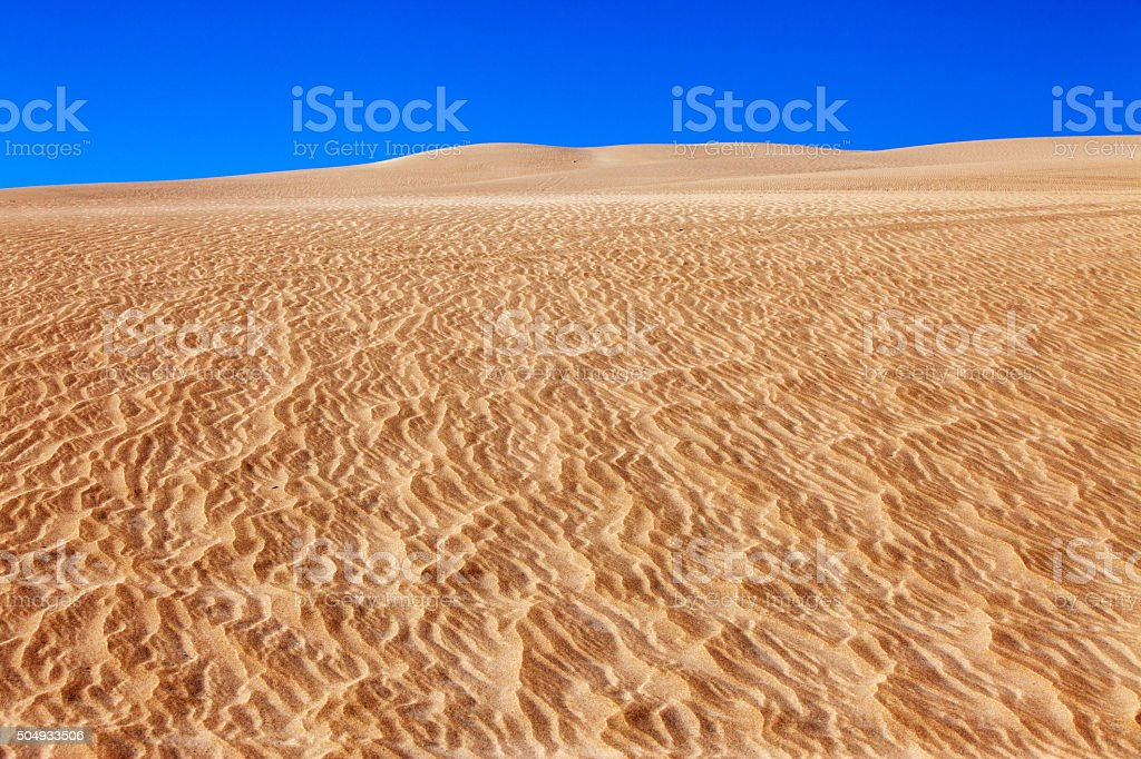 Sand dune on a clear day stock photo
