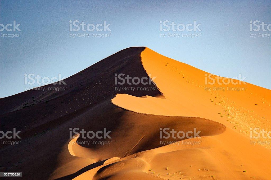 Sand dune panorama stock photo
