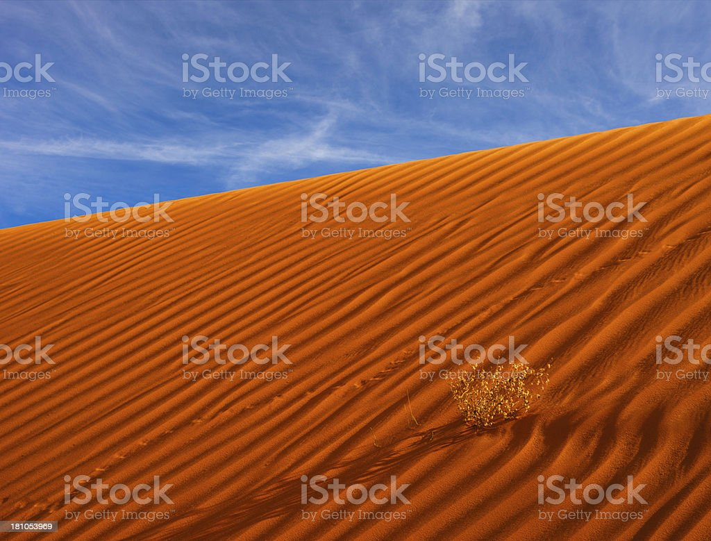Sand dune pattern with sky royalty-free stock photo
