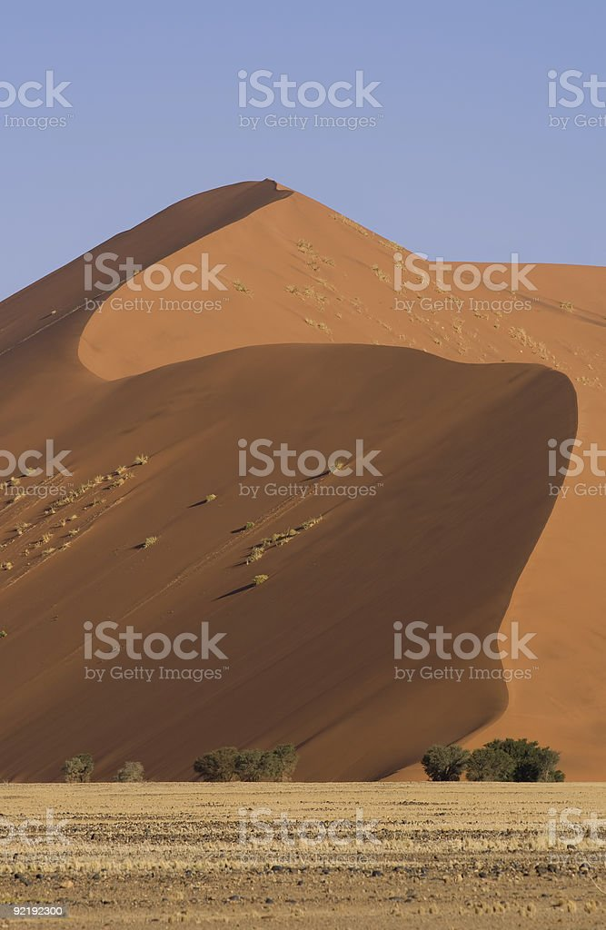 Sand dune profile stock photo