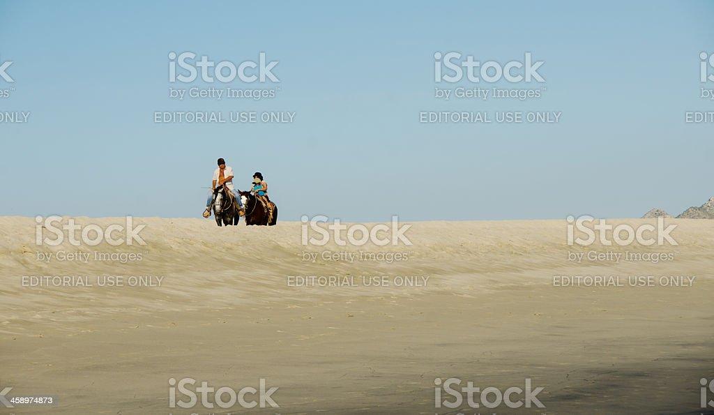 Sand Dune Riders stock photo