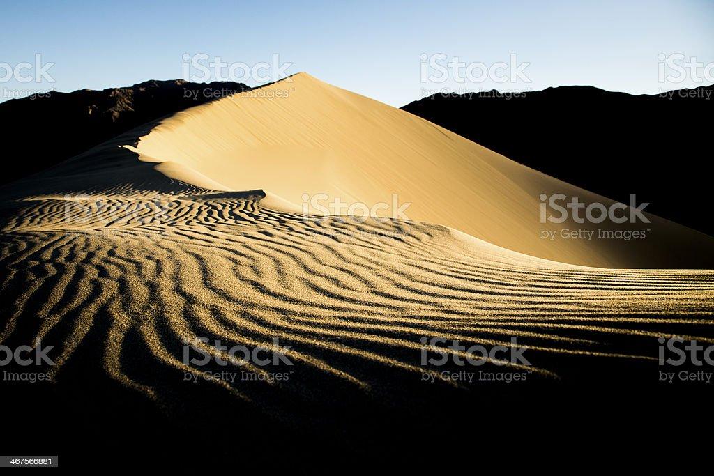 Sand Dune Ridge and Ripples stock photo