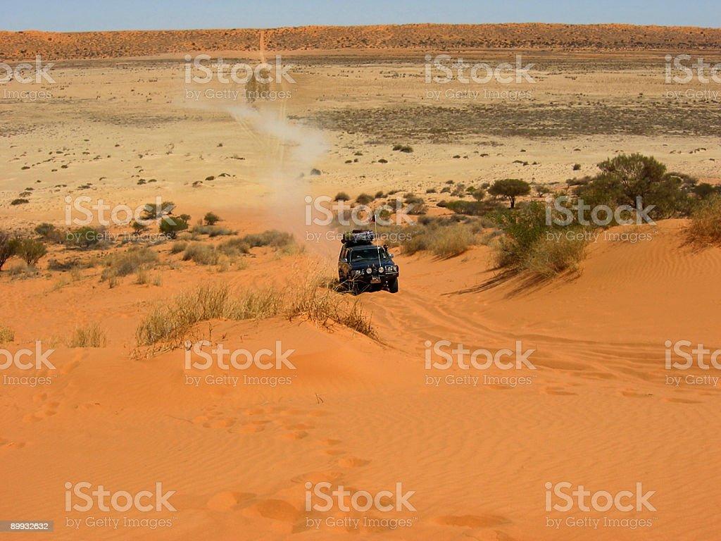 Sand Dune Run Up stock photo