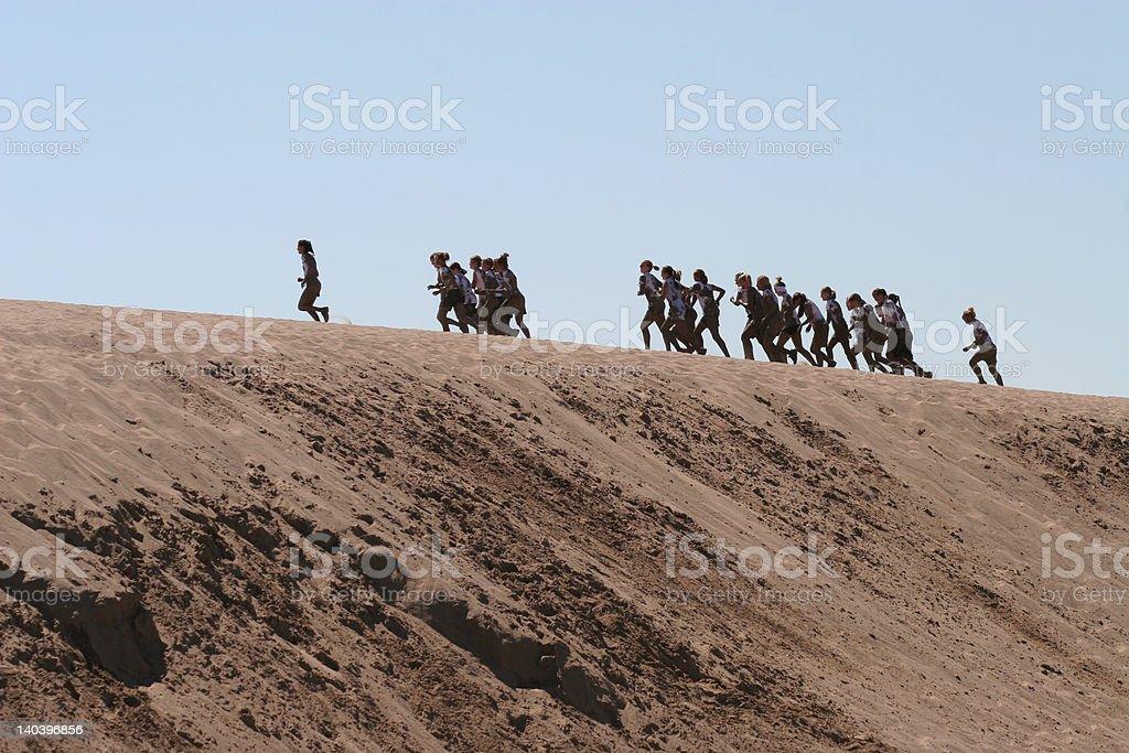 Sand Dune Runners stock photo