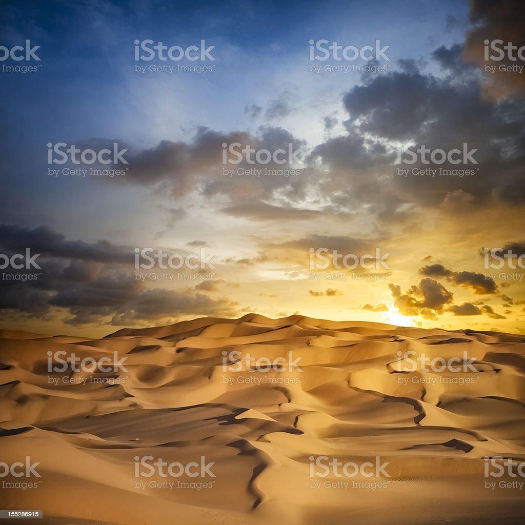 Sand Dune Sunset stock photo