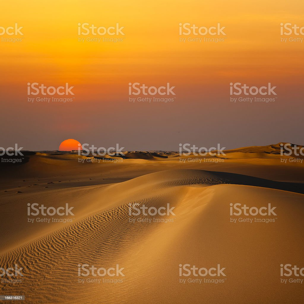 Sand Dune Sunset stock photo
