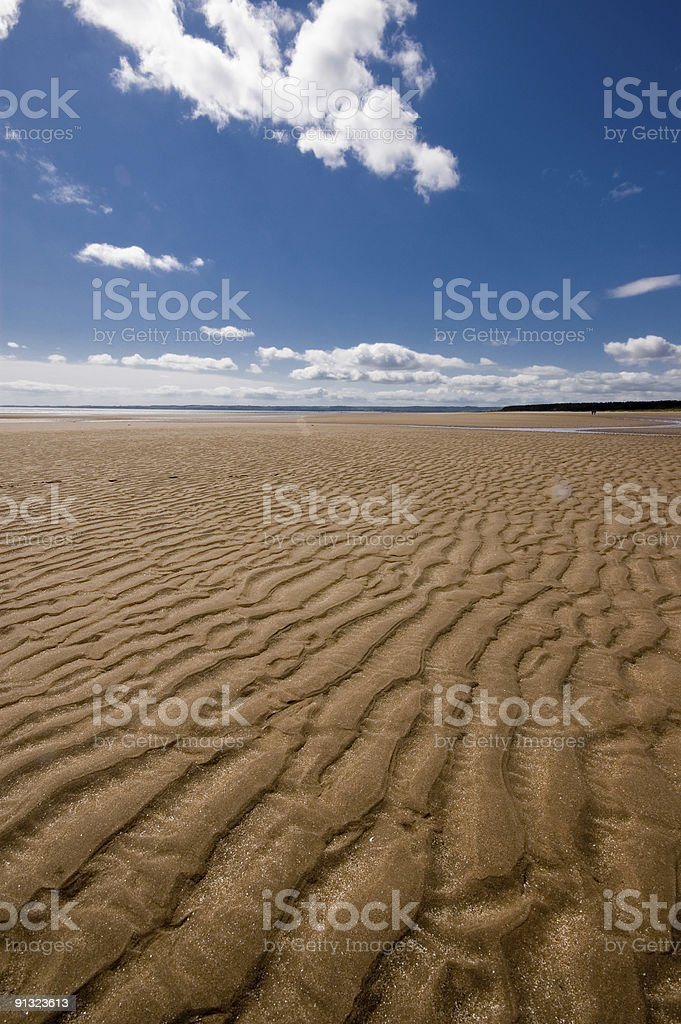 Sand Dune with blue sky and clouds royalty-free stock photo