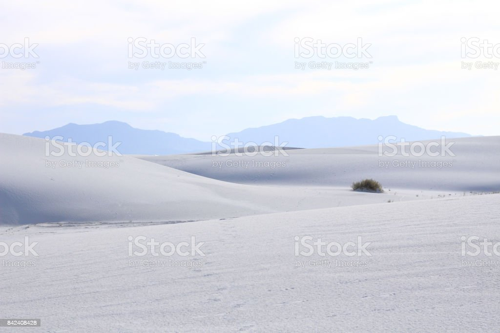 Sand dunes and beautiful sky, White Sands National Monument, New Mexico, USA stock photo