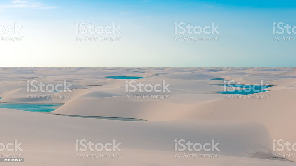 Sand Dunes and Lagoons stock photo