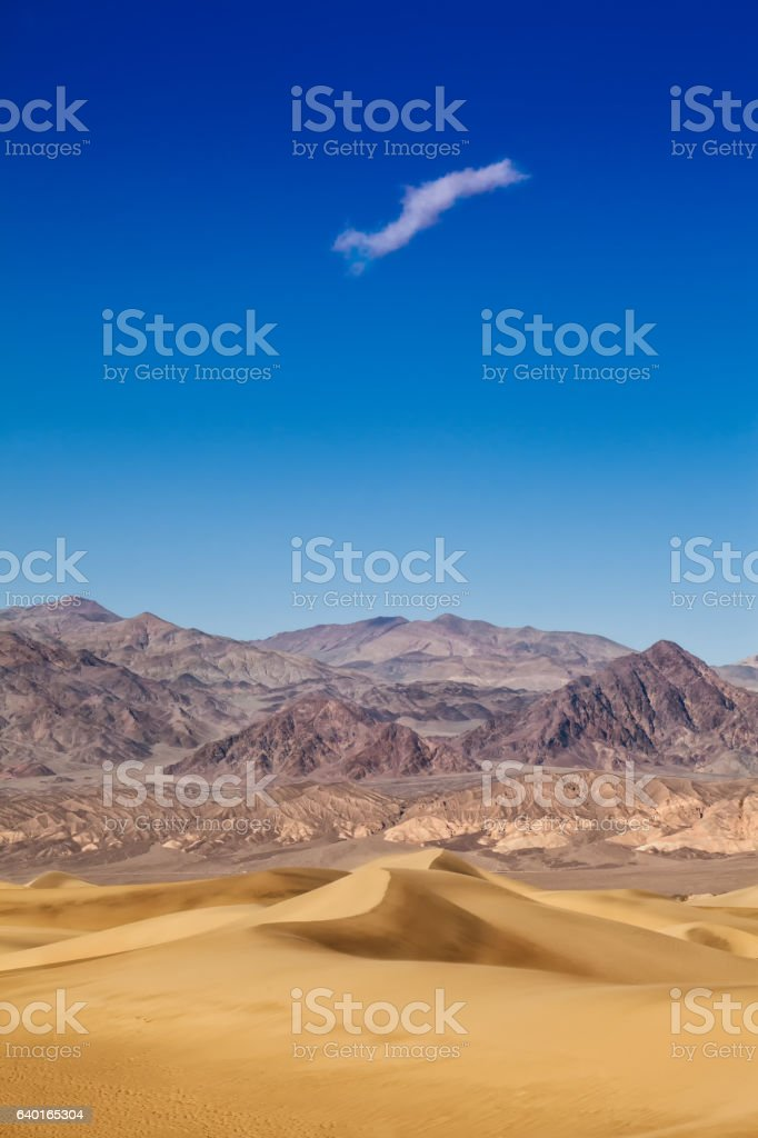 sand dunes at death valley national park stock photo