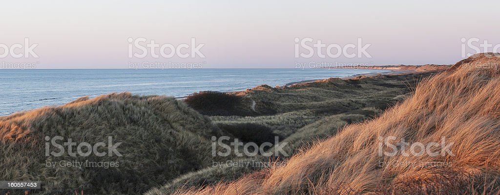 Sand Dunes at Sunset royalty-free stock photo