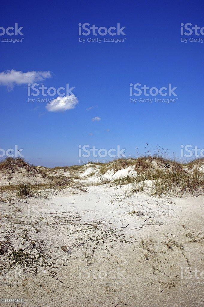 Sand Dunes Cumberland Island Georgia stock photo