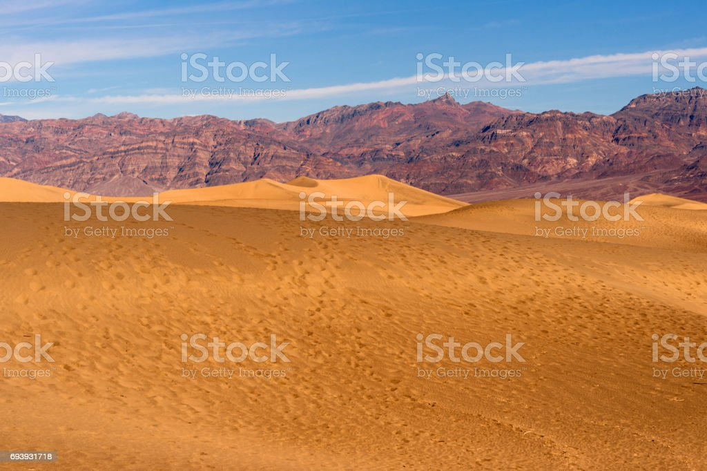 Sand Dunes Death Valley National Park stock photo