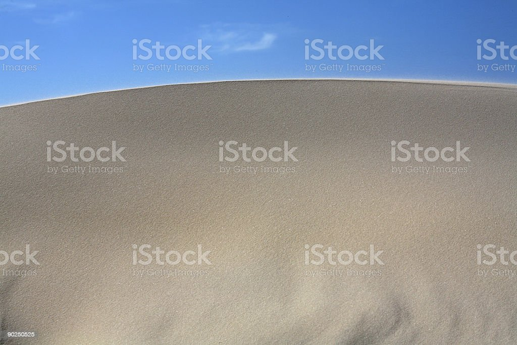 Sand Dunes Frontal royalty-free stock photo