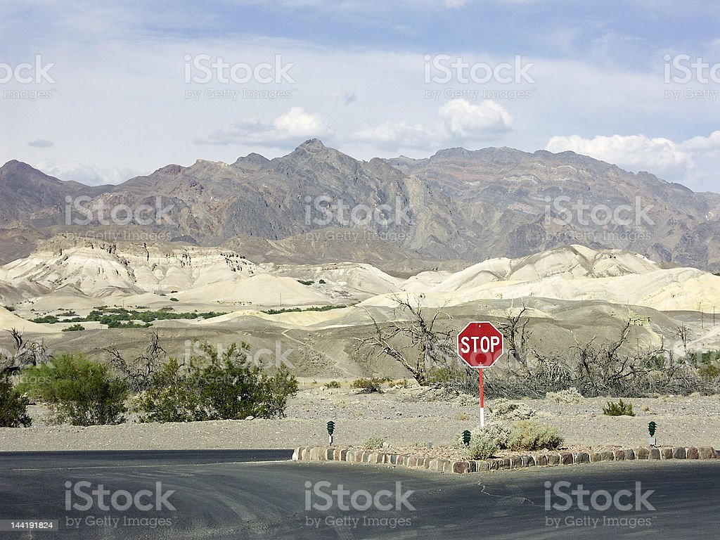 Sand Dunes in Death Valley, CA stock photo