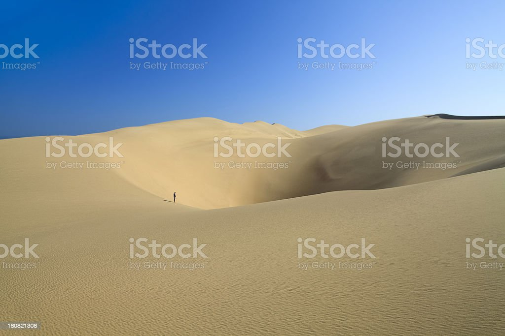 Sand Dunes in Desert Landscape, Namibia, Southern African. royalty-free stock photo