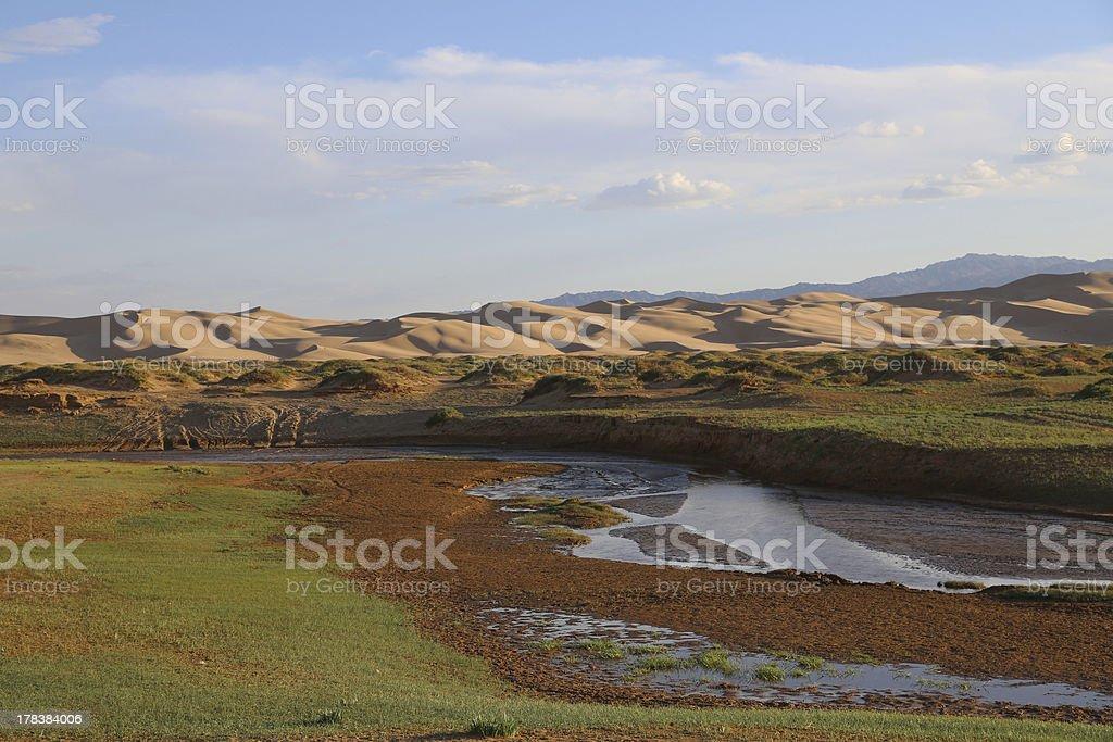 Sand dunes in Mongolia stock photo