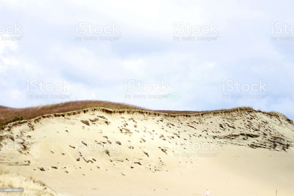 Sand dunes in Nida, Lithuania stock photo