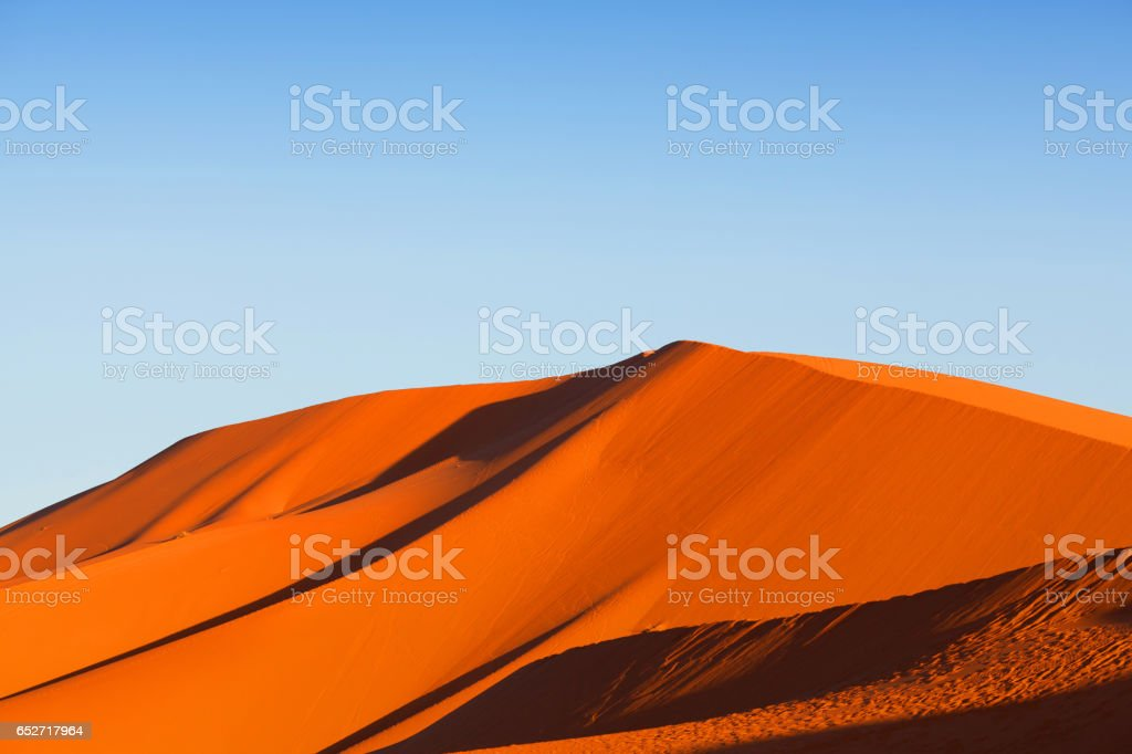Sand dunes in Sahara desert in Africa stock photo