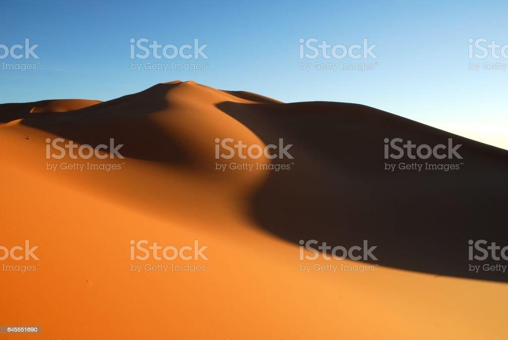 Sand dunes in Sahara desert, Libya stock photo