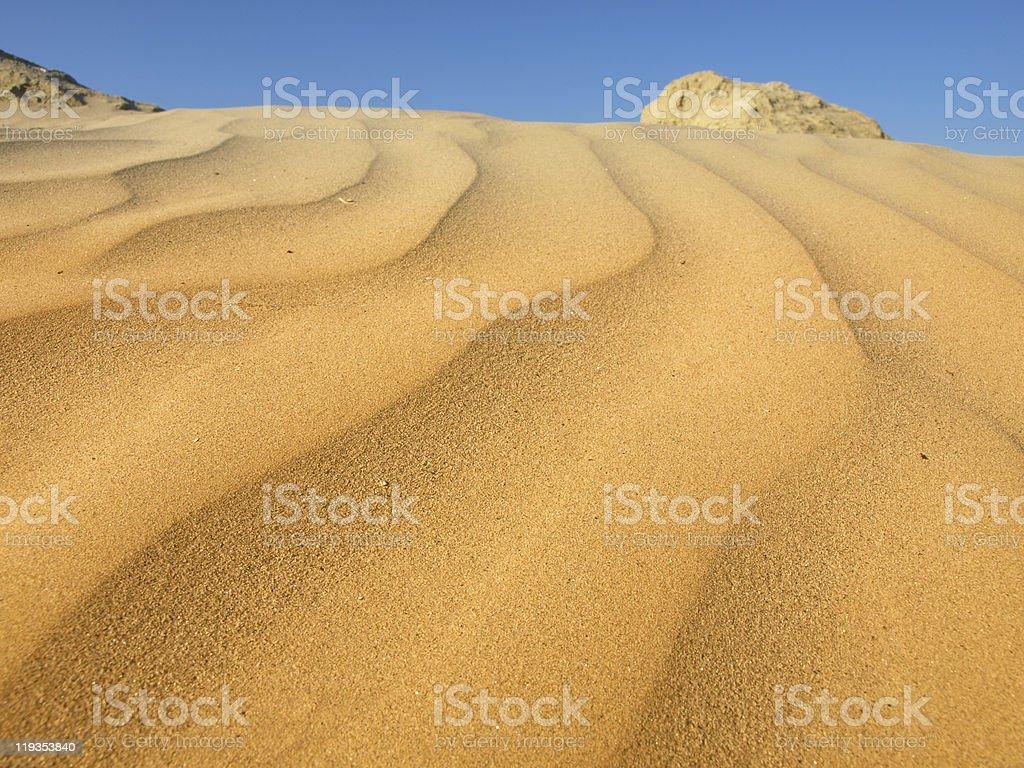 sand dunes in the desert royalty-free stock photo