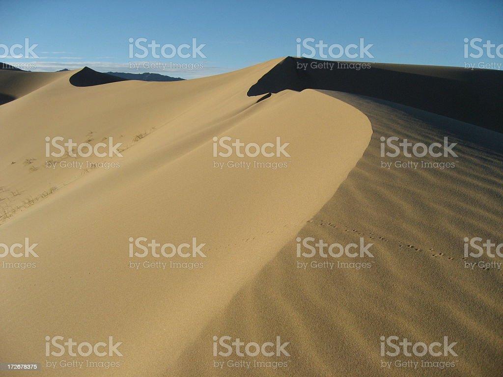 Sand dunes in the Gobi Desert at dawn royalty-free stock photo