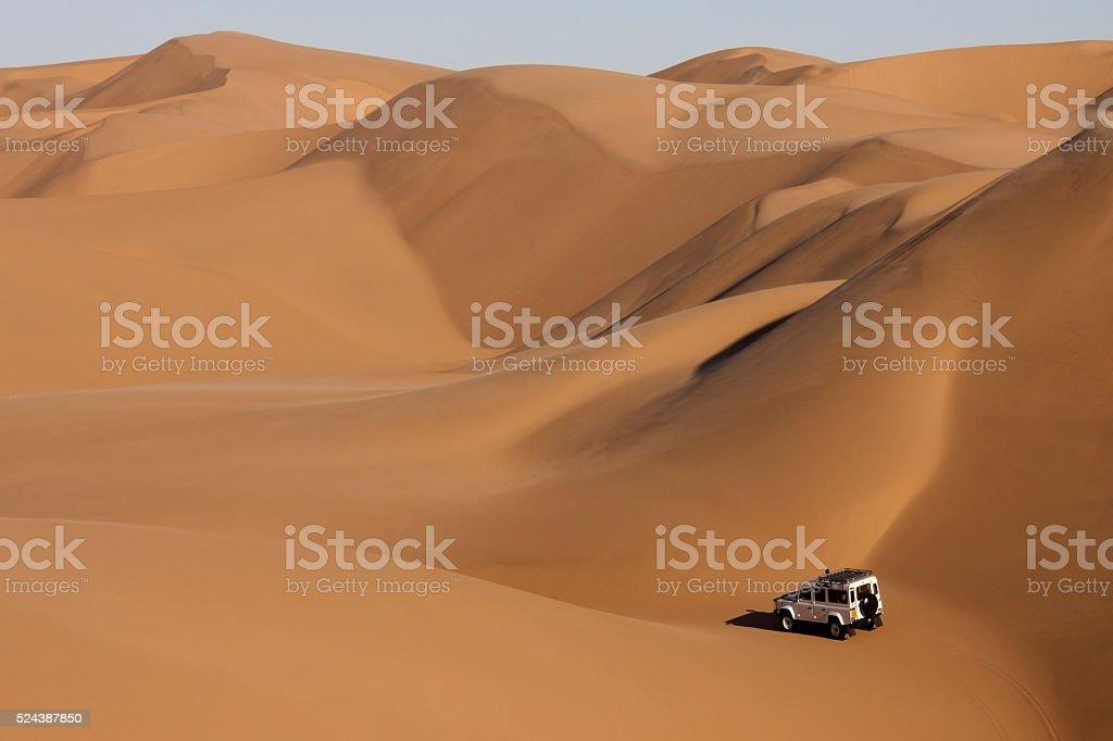 Sand Dunes in the Namib Desert in Namibia stock photo