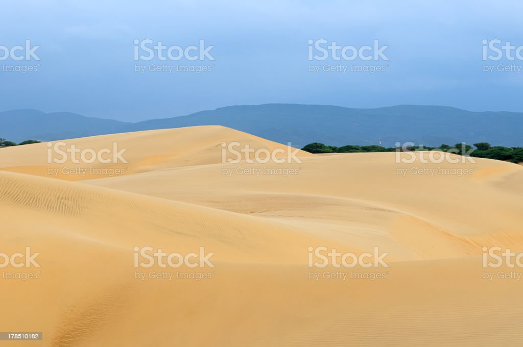Sand dunes in Venezuela near the city of Coro royalty-free stock photo