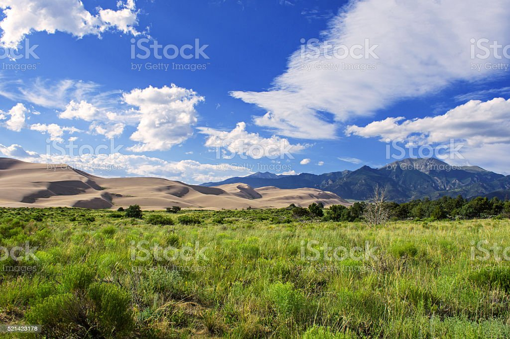 Sand Dunes National Park stock photo