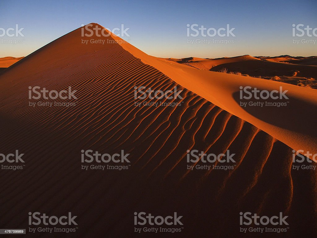 Sand dunes of Erg Chebbi in the Sahara Desert, Morocco. stock photo