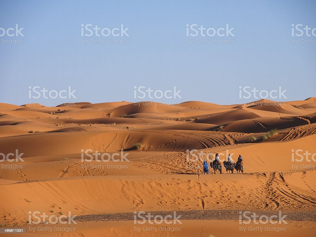 Sand dunes of Erg Chebbi stock photo