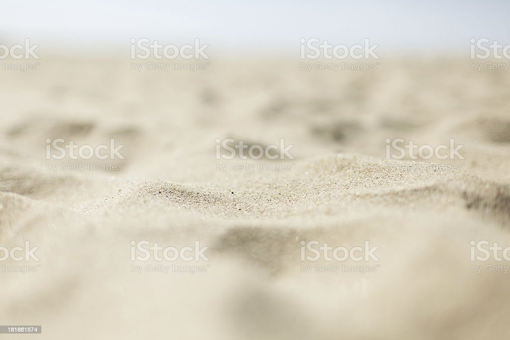 Sand dunes on beach royalty-free stock photo