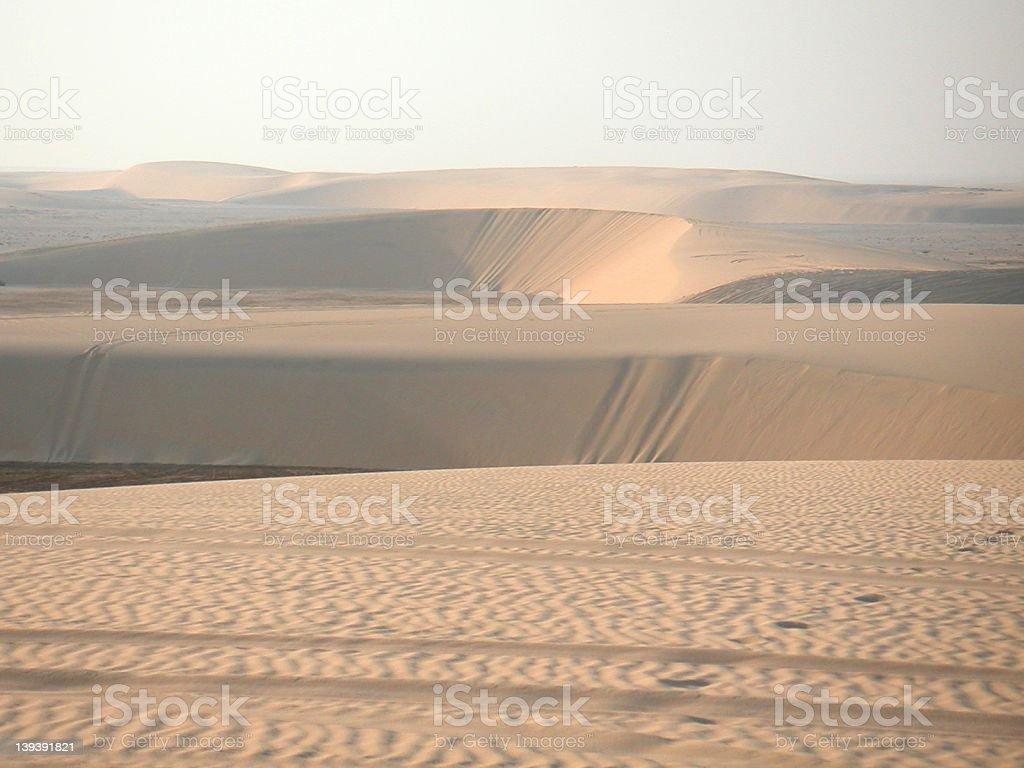 Sand dunes, Qatar stock photo