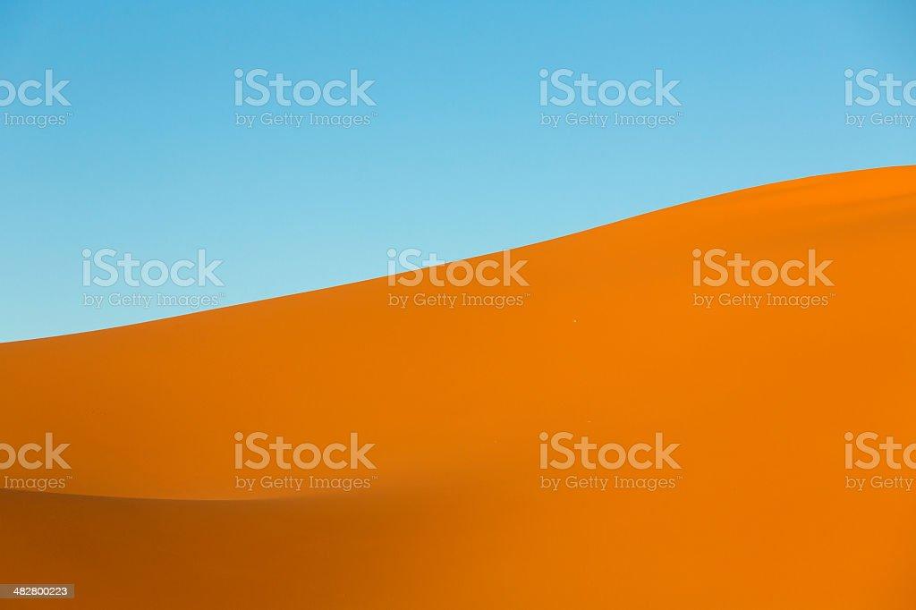 Sand dunes, Sahara Desert stock photo