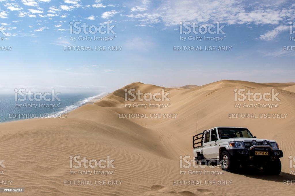 Sand dunes Walvis Bay stock photo