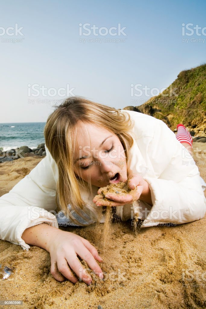 sand eater royalty-free stock photo