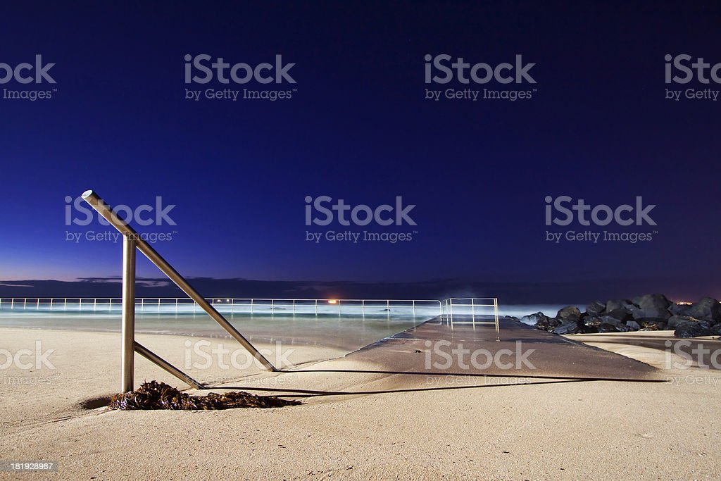 Sand filled pool stock photo