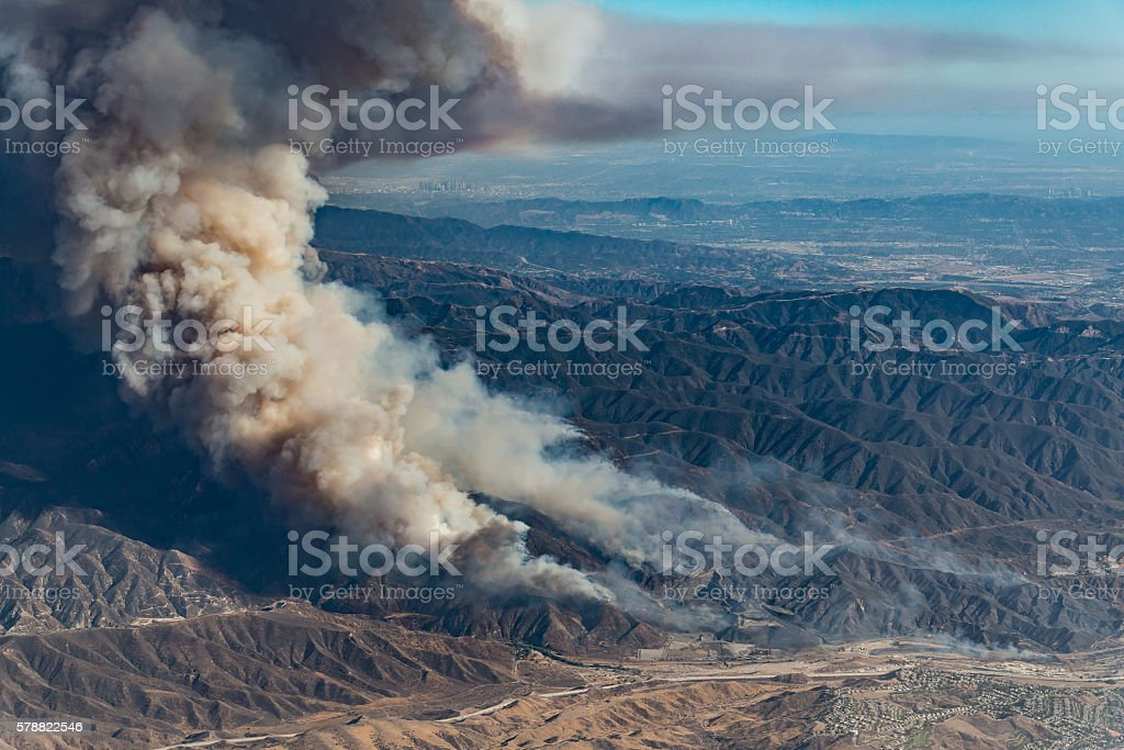 Sand Fire stock photo