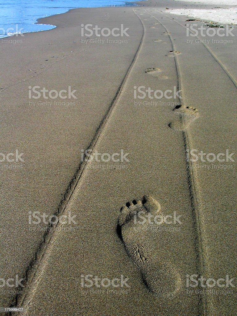 Sand Footprints royalty-free stock photo