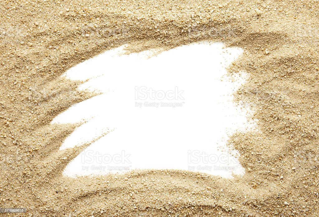 sand frame royalty free stock photo