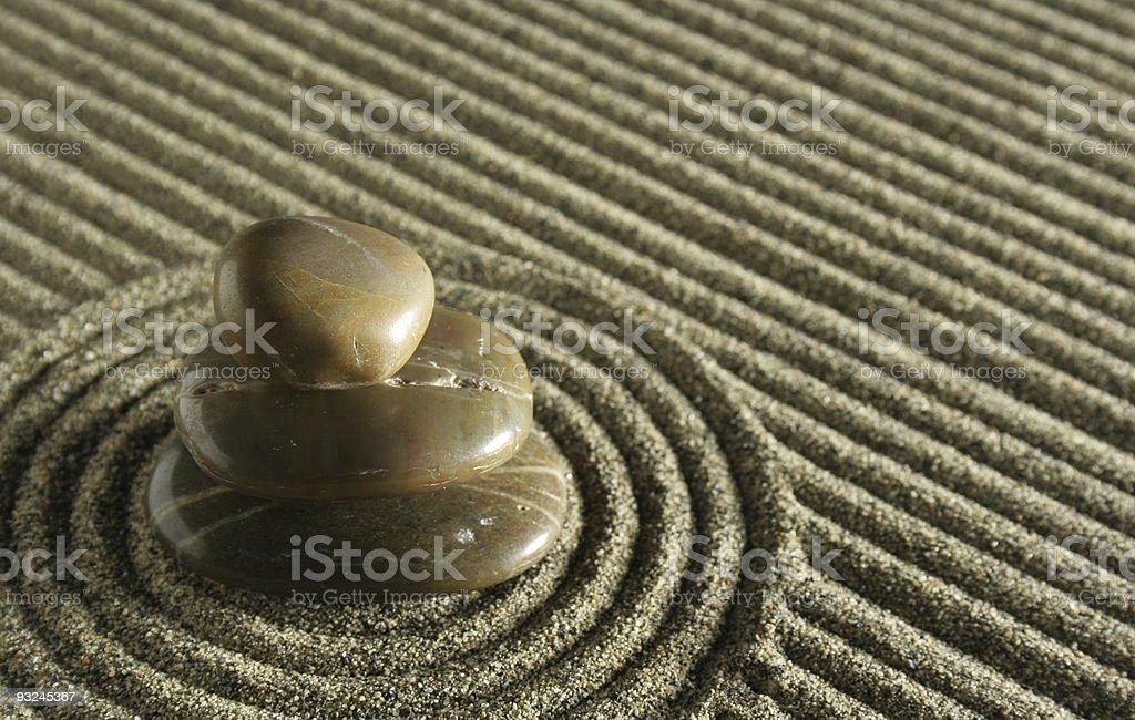 Sand garden royalty-free stock photo