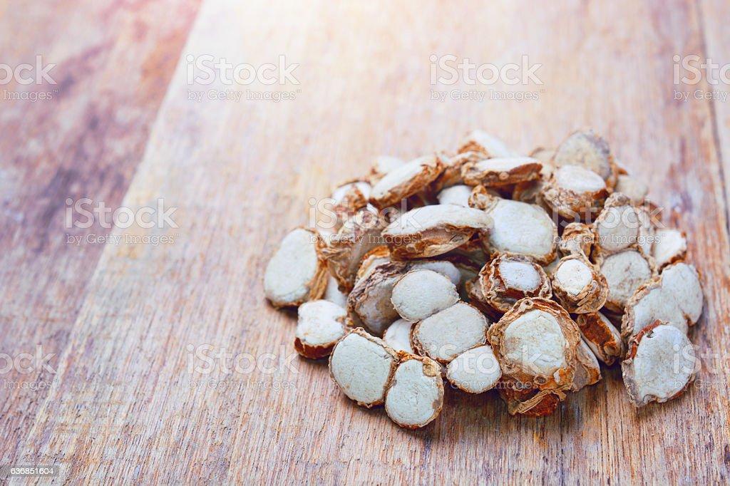 sand ginger sliced stock photo
