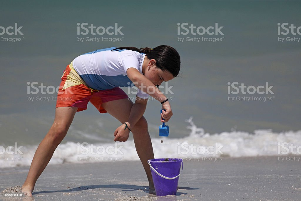 Sand Girl royalty-free stock photo