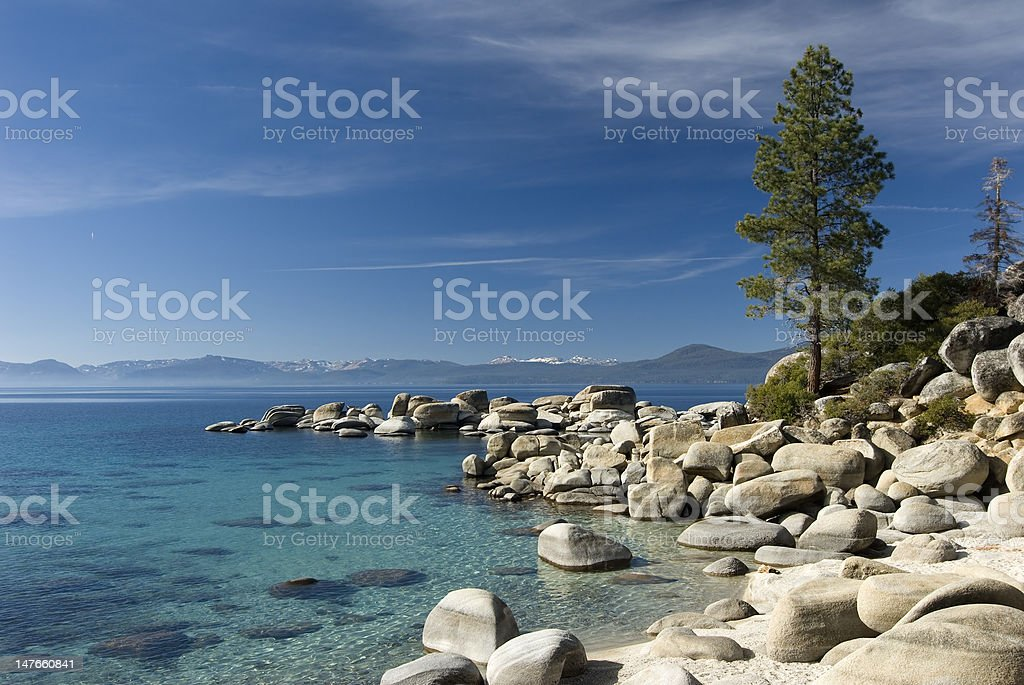 Sand Harbor beach stock photo